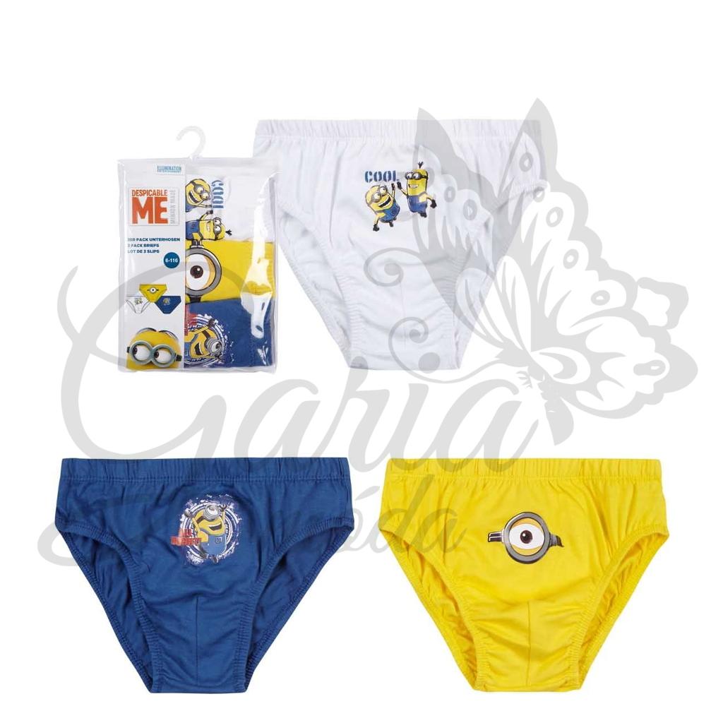 4df1fea0e Chlapčenská súprava 3 ks slipov Minions | Garia móda - móda za ...